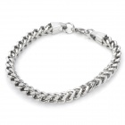 Gothic Style Titanium Stainless Steel Bracelet - Silver
