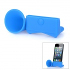 Tragbare Silicone Horn Stand Acoustic Amplifier für iPhone 5 - Blue