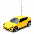 "T-809 Car Model Style 1.6"" Screen Media Player Speaker w/ TF / FM - Yellow + Black"
