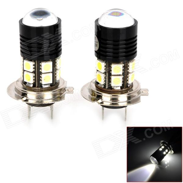 H7 12W 400lm 12-SMD 5050 LED + Cool White Car Foglights (DC 12~24V / 2 PCS) forex b016 h 5050