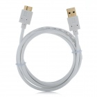 USB 3.0 AM to Micro USB 3.0 B Type Male Cable - White + Golden (150cm)
