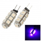 PointPurple G4F113C P G4 2.34W 435nm 13-SND 5050 LED Purple Light Car Lamp - (2 PCS / 12V)