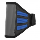 Trendy Sports Mesh Style Gym Armband for iPhone 5 - Black + Blue