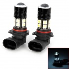 9006 12W 400lm 12-SMD 5050 LED + CREE XR-E R3 Cool White Car Foglights (DC 12~24V / 2 PCS)