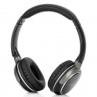 Wireless Bluetooth v2.1 + EDR Stereo Headphones w/ MP3 / PC Voice / USB - Black