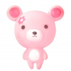 965 Cute Plastic Mini Bear Toy w/ Suction Cup - Pink