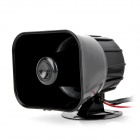 HAOSHENG HS2011 DIY Motorcycle Security 4-Tone Alarm Horn Speaker - Black (DC 12V)