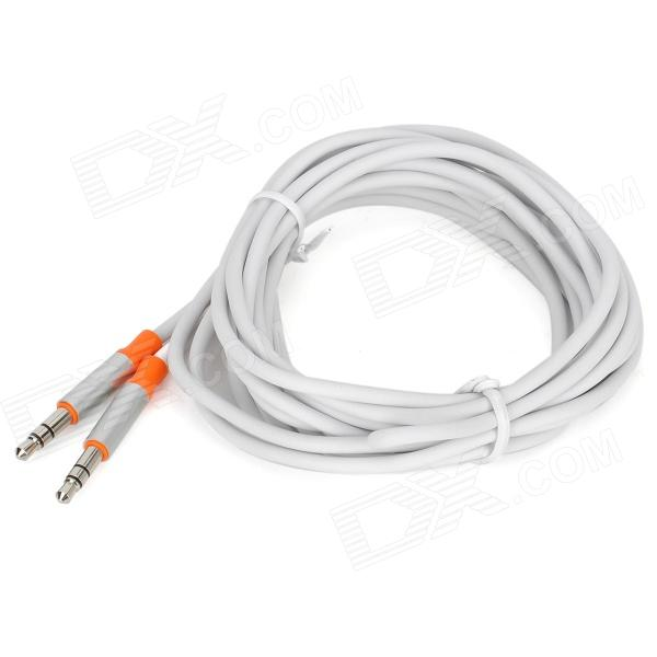 PowerSync 35-ERMM59 3.5mm Audio Male to Male Transmission Cable - Silver + Orange + White (300cm)