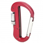 Multi-Function Outdoor Sports Locking Carabiner w/ 1-LED Flashlight + Knife - Red