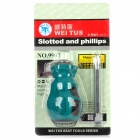 WEITUS WTS-9907 Slotted & Cross Head 2-Way Screwdriver - Wasserblau + Silver (6 x 38mm)