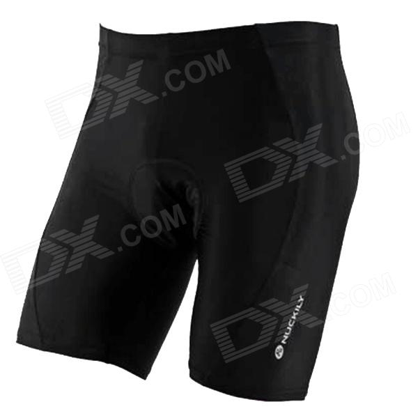 NUCKILY Bike Bicycle Cycling Riding Lycra Shorts - Black (Size XL)