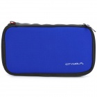 CITYWOLF Protective Dual Zippers Soft Case Bag w/ Strap for Nintendo Wii U - Blue