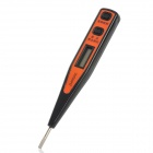 "ZHANKE 0.8"" LCD AC/DC Voltage Digital Tester Electroprobe w/ Slotted Screwdriver - Black + Orange"