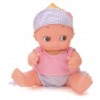 ALEESHA Cute Vinyl Baby Doll w/ Sound Effect - Pink (3 x LR44 )