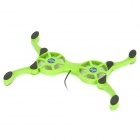 Octopus Style Foldable USB Powered Cooling Pad for Laptop / Notebook - Green