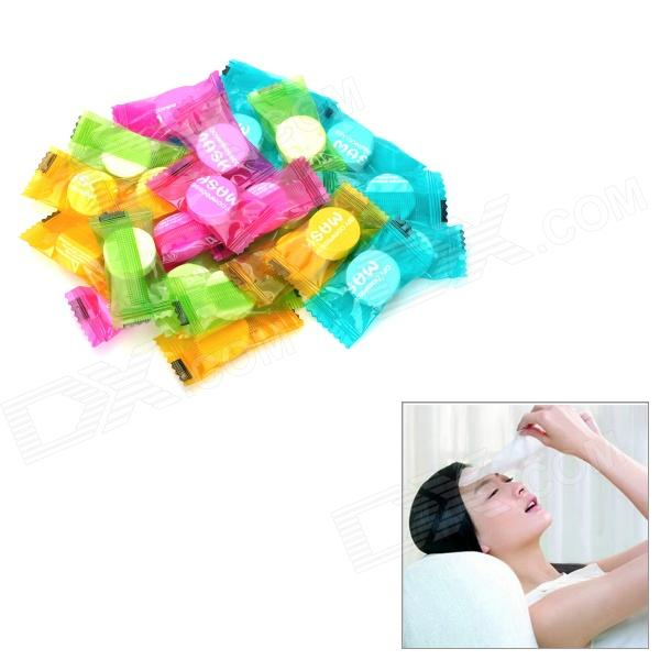 Cute Smile Compressed Facial Mask - Yellow (24PCS)