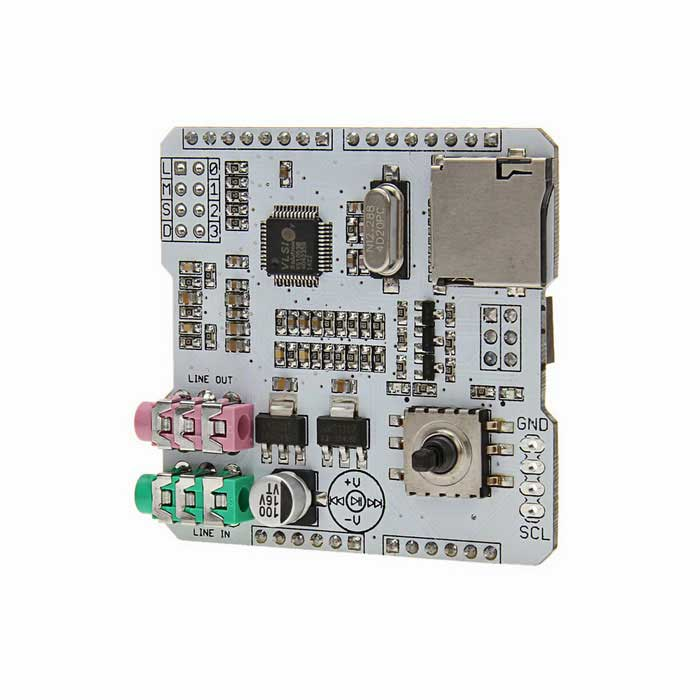 SD Card MP3 / Music Shield Audio Expansion Board - White