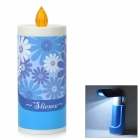 Candle Stil Portable Folding 2-Way 15-LED Weiß / Gelb Augenschutz Mood Night Light - Blue