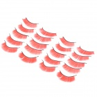 False Eyelashes for Beauty Makeup - Orange Red (10-Pair)