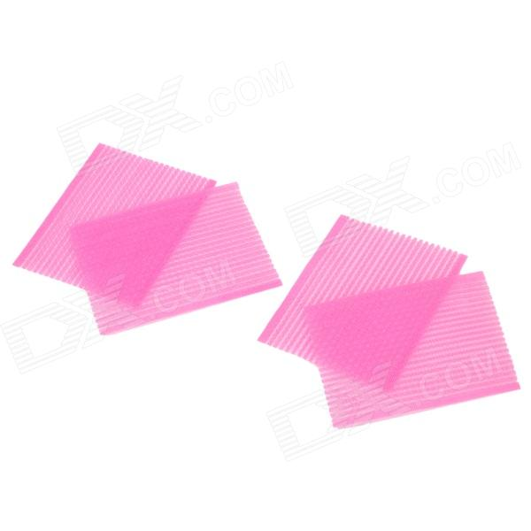 DIY Cute Rectangle Shape Stick Bang Fringe Posted - Pink (2 x 2 PCS)