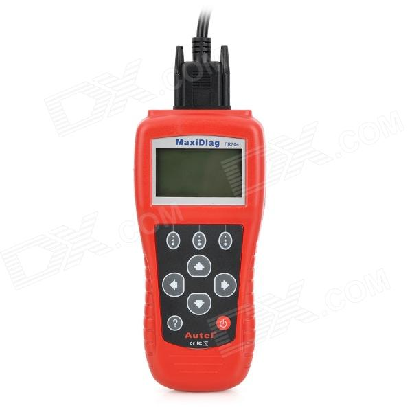 MaxiScan FR704 2.7 LCD Code Scanner Reader Diagnostic Tool for Renault / Citroen / Peugeot - Red original autel maxitpms ts501 with obd2 adapters tpms diagnostic
