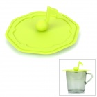 WL007 Creative Musical Note Style Silicone Mug Cup Cover Lid - Green