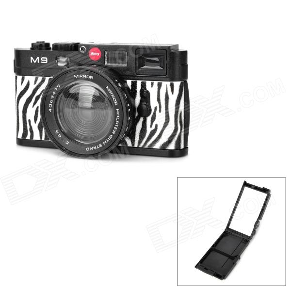 Leica Camera Mirror w/ Hand Lanyard - Black + White