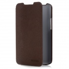 ROCK Big City PU Leather Flip Open Case Cover for Lenovo S880 - Coffee