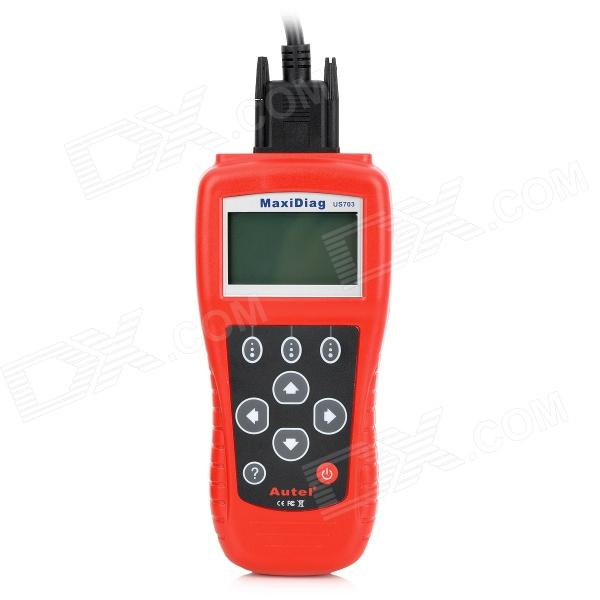 MaxiDiag US703 2.7 LCD Code Scanner Reader Diagnostic Tool for GM / Ford / Chrysler - Red
