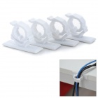 NST-536L Stylish Wire Cord Cable Clip Organizer - White (4 PCS)