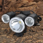 MAGICSHINE MJ-816 Z7 & 2-CREE-XP-G R5 1400lm 3-Mode 3-LED White Bike Light (4 x 18650)