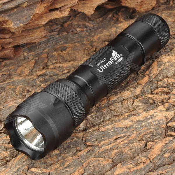 UltraFire WF-502B 345lm 2-Mode White Flashlight - Black (1 x 18650)