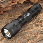 UltraFire WF-502B Cree XP-G R5 345lm 2-Mode White Flashlight - Black (1 x 18650)
