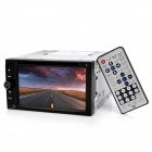 "7650R 6.2"" LCD Dual Din Car DVD Player w/ WiFi / 3G / IPOD / GPS / RDS / Audio Out / TV / FM - Black"