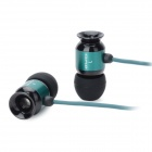 Fashion AWEI T10vi 3.5mm Plug In-ear Earphones - Black + Green