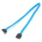 High Speed SATA II Cable w/ One Right Angle Connector - Blue (35cm)