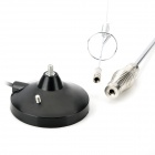 High Frequency Enhanced Car FM Radio Antenna w/ Magnetic Base - Black + Silver