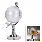 Creative Globe Style ABS Wine Pourer - Silver + Transparent (1000ml)