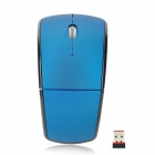 Нобелевская 760A 2,4 складной Wireless Optical Mouse - Синий (2 х ААА)