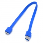 USB 3.0 USB Male to Micro-B USB Male Cable - Blue (30cm)
