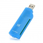 SSK SCRS028 USB 2.0 CompactFlash CF Card Reader - Blue
