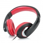 SH-007 Stylish Headphone Headset w/ Microphone for PC / Laptop - Black + Red