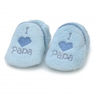 Cute Heart Pattern Baby Cotton + Polyester Anti-Skid warme Schuhe - Blue (Paar)