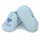 Cute Heart Pattern Baby Cotton + Polyester Anti-Skid Warm Shoes - Blue (Pair)