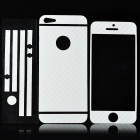 ISME Carbon Fiber Grain Full Housing Decoration Paper Stickers for Iphone 5 - White