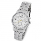 EYKI w8442AG Men's Stainless Steel Band Quartz Analog Wrist Watch - White + Silver