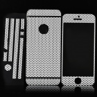 Grid Pattern Front / Back / Side Screen Protector / Guard + Reinigung Kleidung für iPhone 5 - White