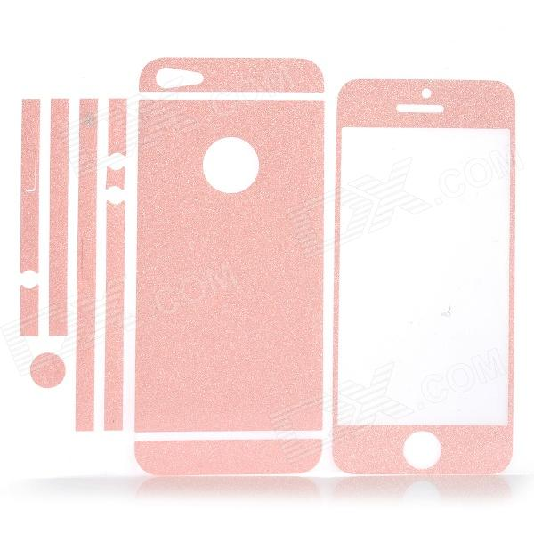 ISME Shining Full Housing Decoration Paper Stickers for Iphone 5 - Pink isme shining full housing decoration paper stickers for iphone 5 pink