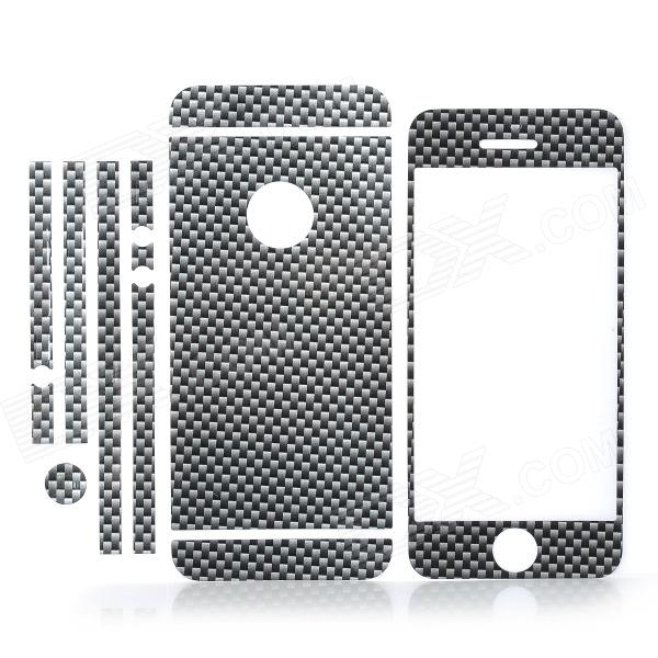 ISME Check Pattern Full Housing Decoration Paper Stickers Set for Iphone 5 - Black isme shining full housing decoration paper stickers for iphone 5 pink