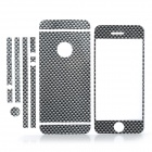 ISME Check Pattern Full Housing Decoration Paper Stickers Set for iPhone 5 - Black